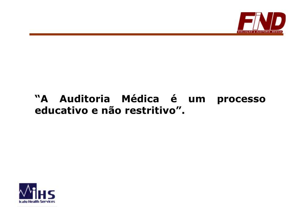 A Auditoria Médica é um processo educativo e não restritivo .