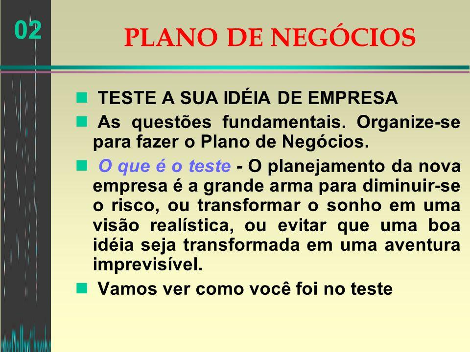 PLANO DE NEGÓCIOS TESTE A SUA IDÉIA DE EMPRESA