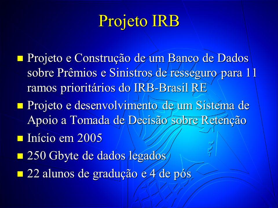 Projeto IRB Projeto e Construção de um Banco de Dados sobre Prêmios e Sinistros de resseguro para 11 ramos prioritários do IRB-Brasil RE.