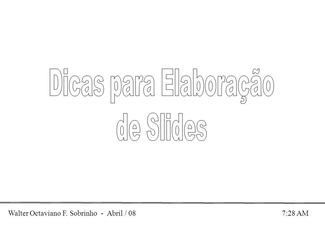 Dicas para Elaboração de Slides