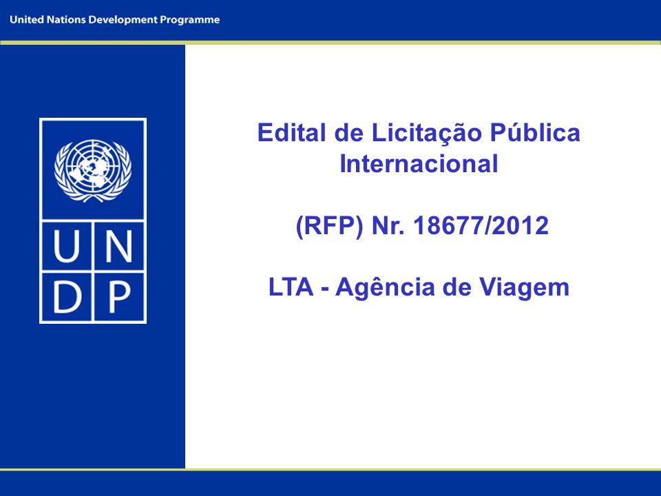 Edital de Licitação Pública Internacional