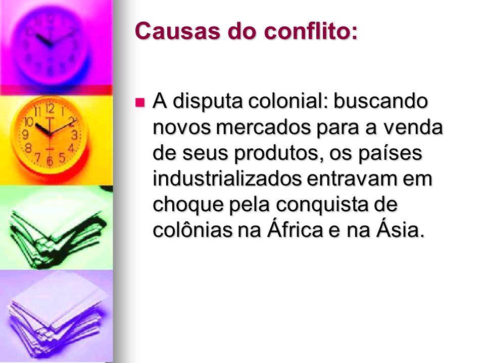 Causas do conflito: