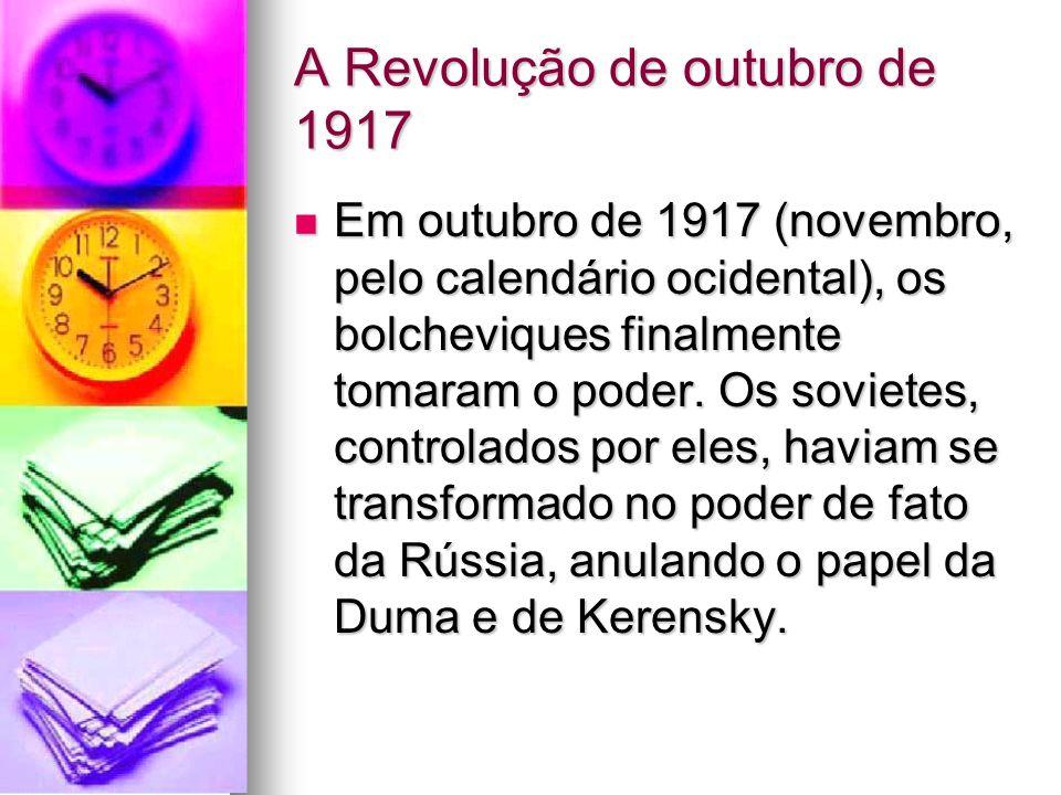 A Revolução de outubro de 1917