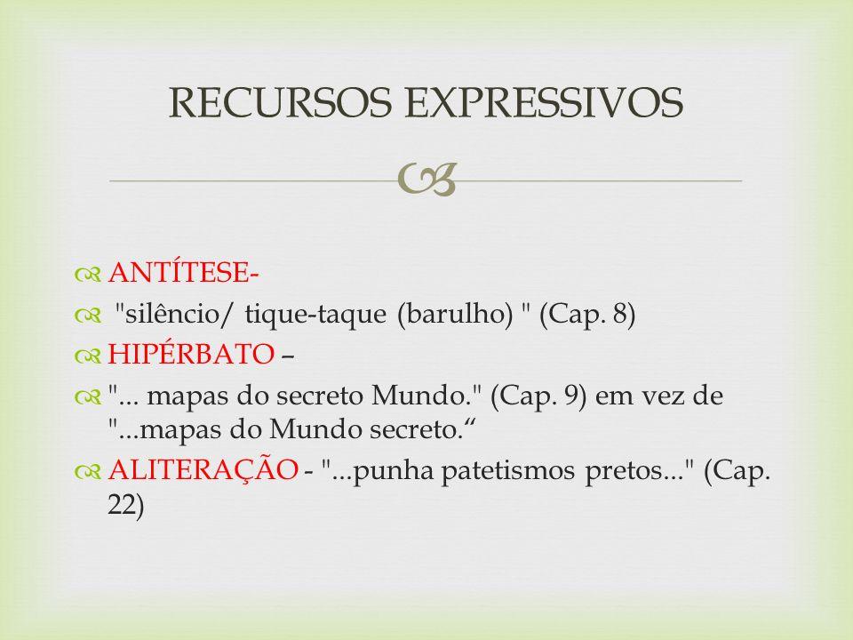 RECURSOS EXPRESSIVOS ANTÍTESE-