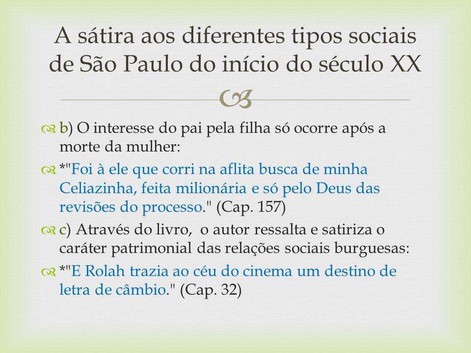 A sátira aos diferentes tipos sociais de São Paulo do início do século XX