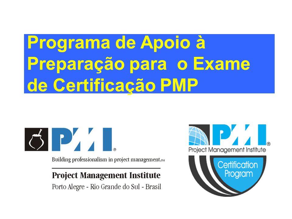 Programa de Apoio à Preparação para o Exame de Certificação PMP