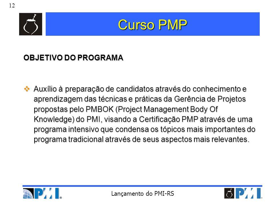 Curso PMP OBJETIVO DO PROGRAMA