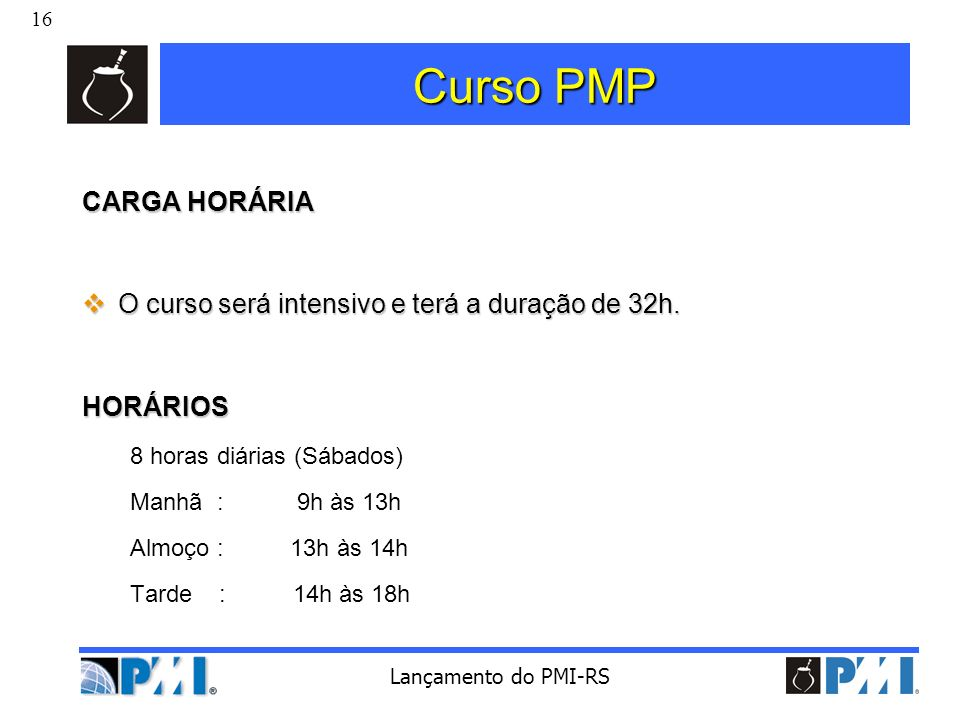 Curso PMP CARGA HORÁRIA