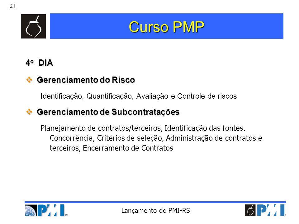 Curso PMP 4o DIA Gerenciamento do Risco