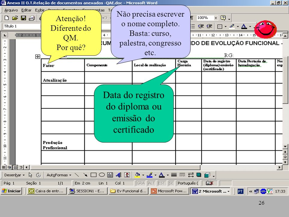 Data do registro do diploma ou emissão do certificado