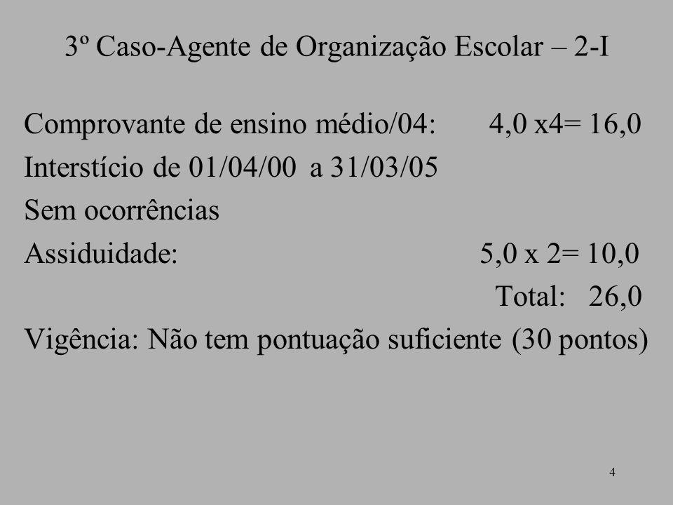 3º Caso-Agente de Organização Escolar – 2-I