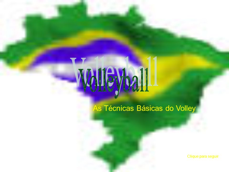 As Técnicas Básicas do Volley