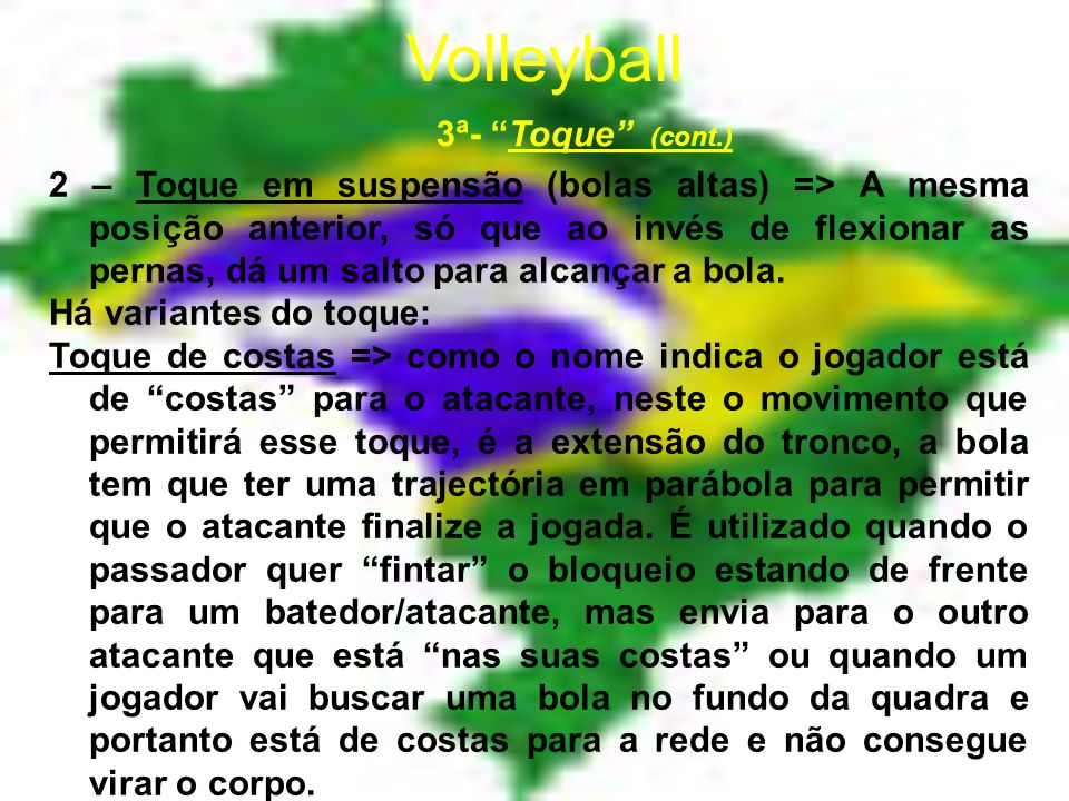 Volleyball 3ª- Toque (cont.)