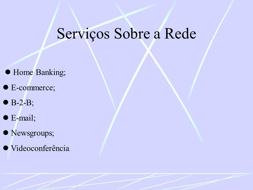 Serviços Sobre a Rede  Home Banking;  E-commerce;  B-2-B;  E-mail;