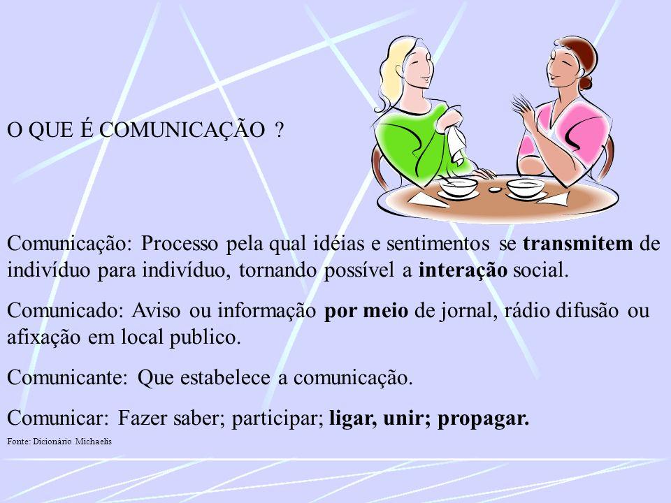 Comunicante: Que estabelece a comunicação.