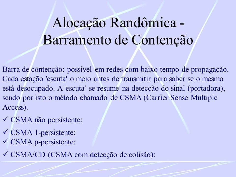 Alocação Randômica - Barramento de Contenção