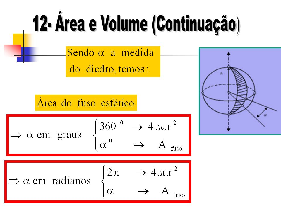 12- Área e Volume (Continuação)
