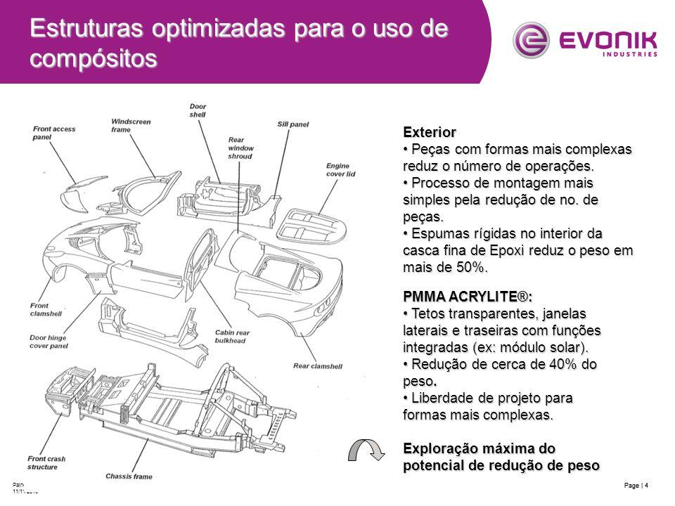 Estruturas optimizadas para o uso de compósitos