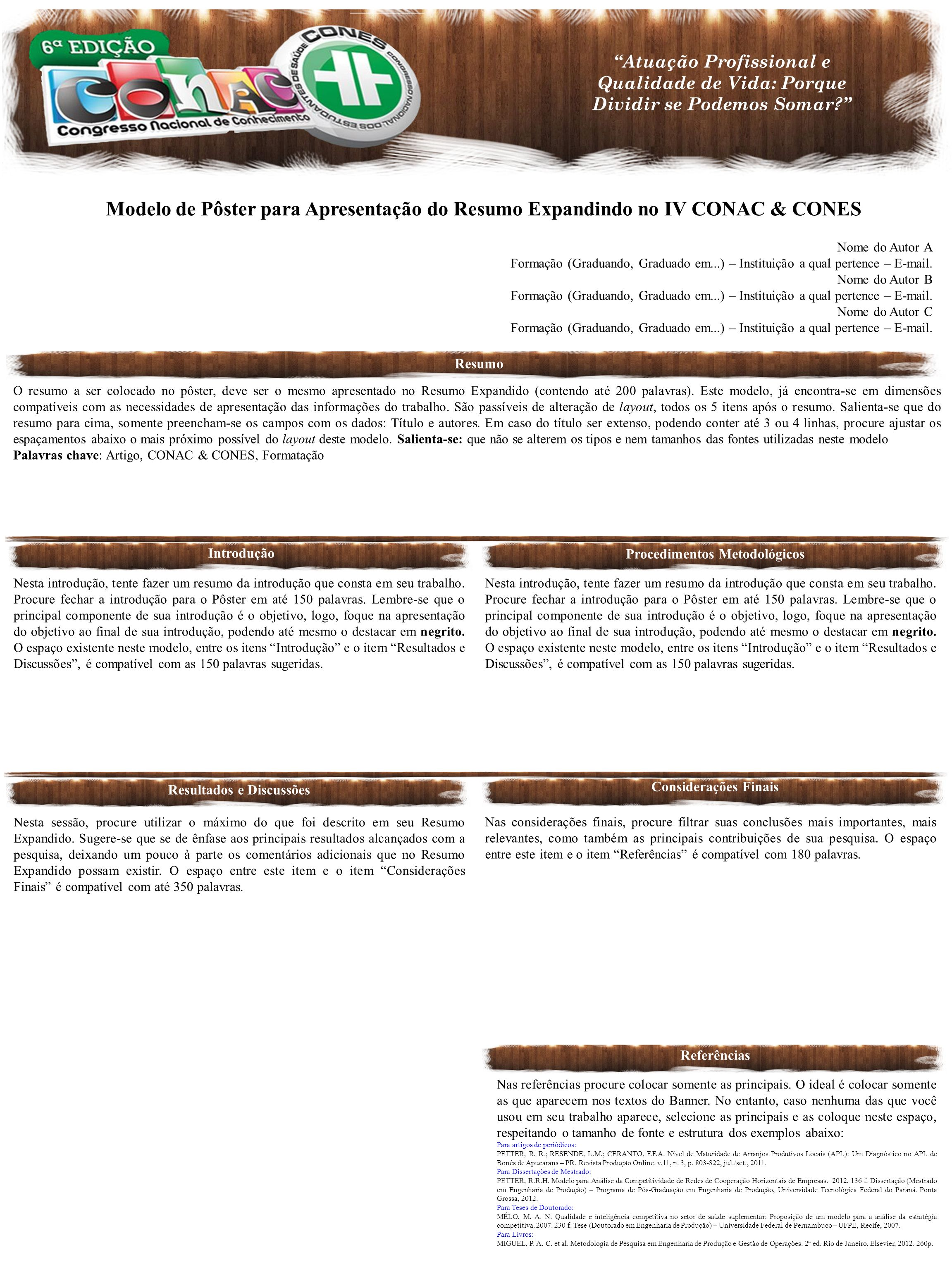 Procedimentos Metodológicos Resultados e Discussões