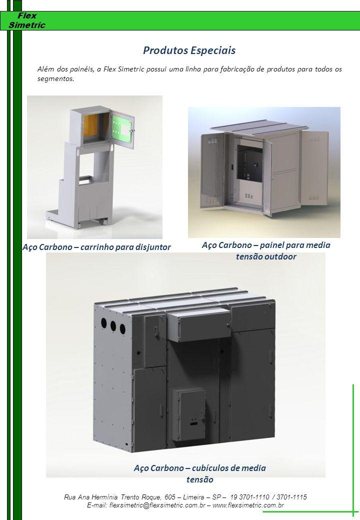 Produtos Especiais Aço Carbono – painel para media tensão outdoor