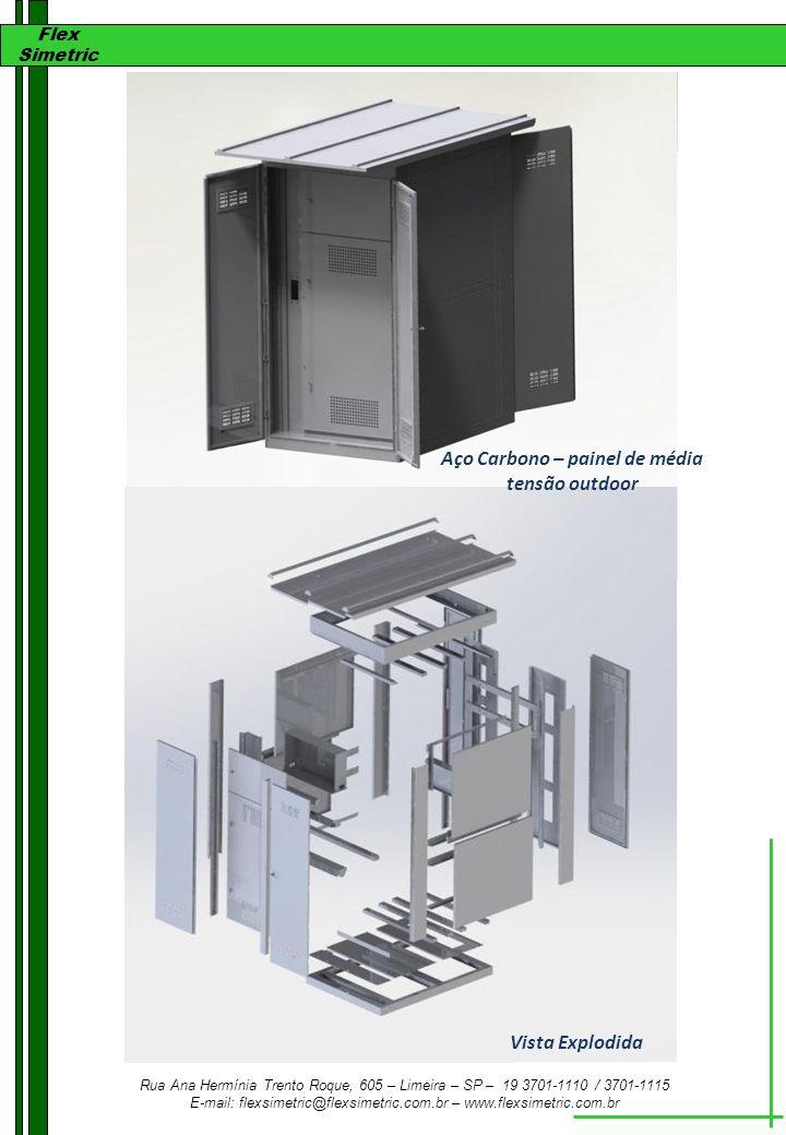 Aço Carbono – painel de média tensão outdoor