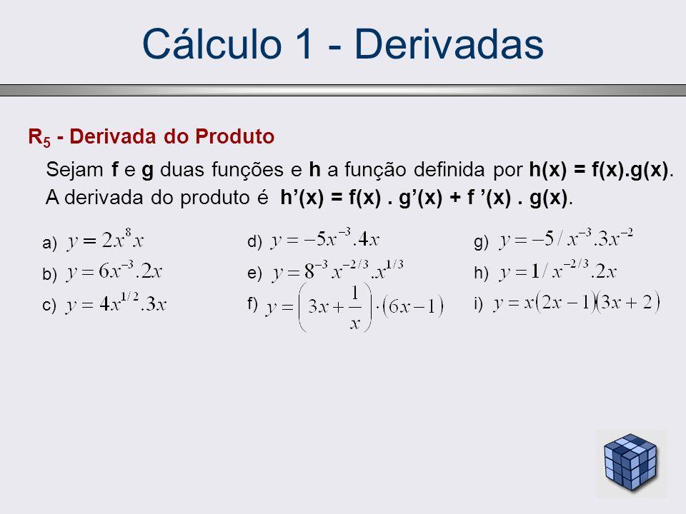 Cálculo 1 - Derivadas R5 - Derivada do Produto