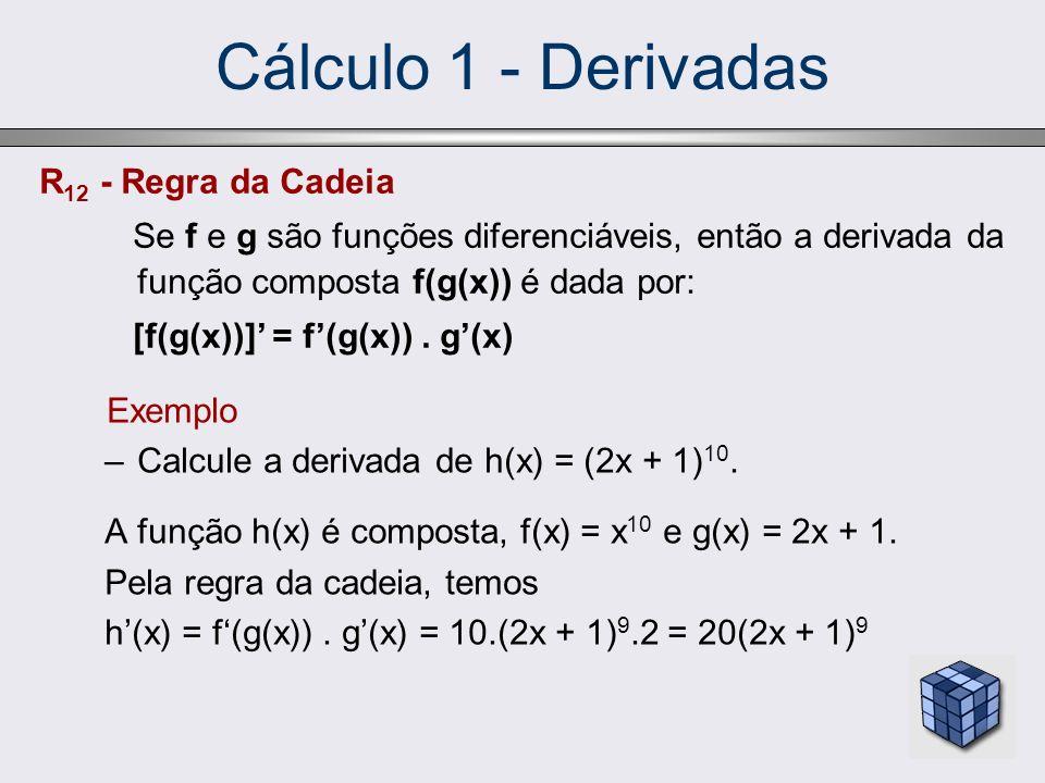Cálculo 1 - Derivadas R12 - Regra da Cadeia
