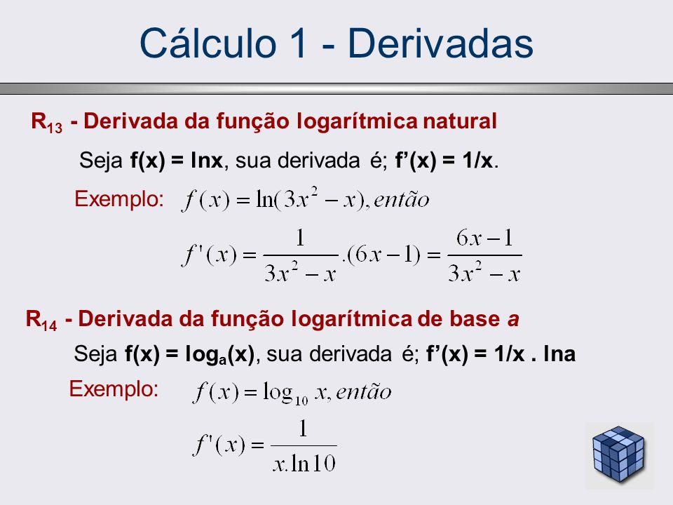 Cálculo 1 - Derivadas R13 - Derivada da função logarítmica natural