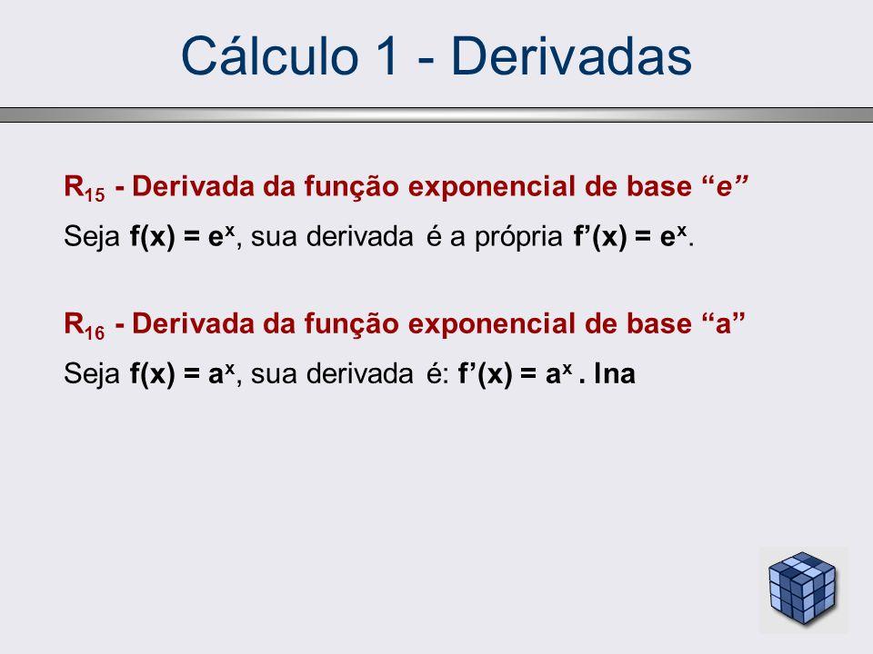 Cálculo 1 - Derivadas R15 - Derivada da função exponencial de base e