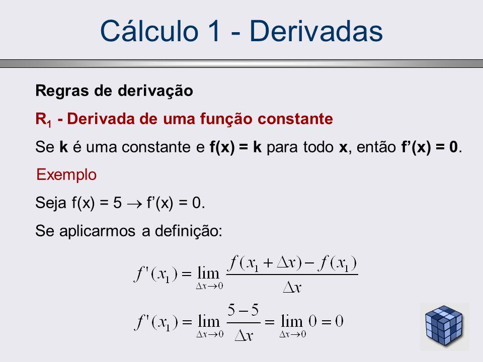 Cálculo 1 - Derivadas Regras de derivação