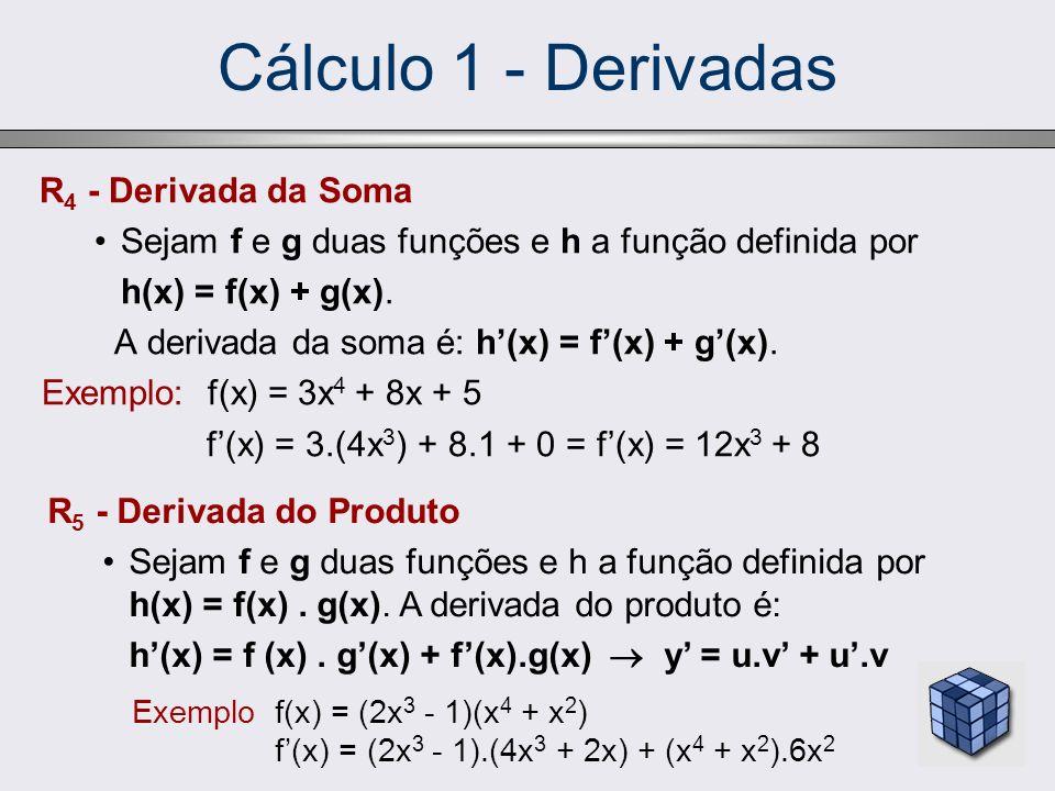 Cálculo 1 - Derivadas R4 - Derivada da Soma
