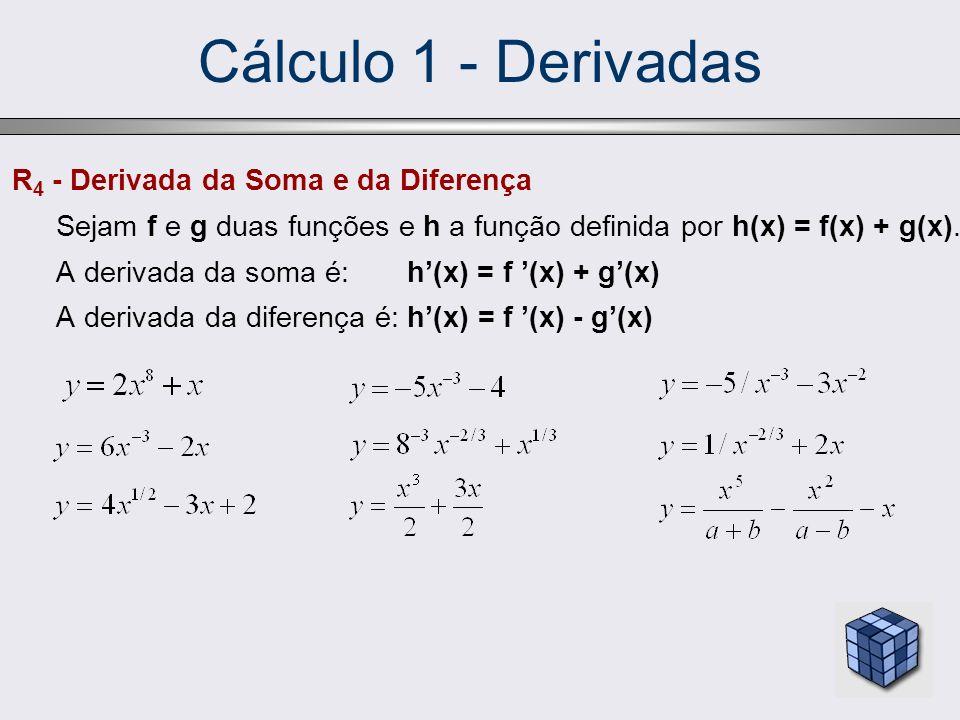 Cálculo 1 - Derivadas R4 - Derivada da Soma e da Diferença