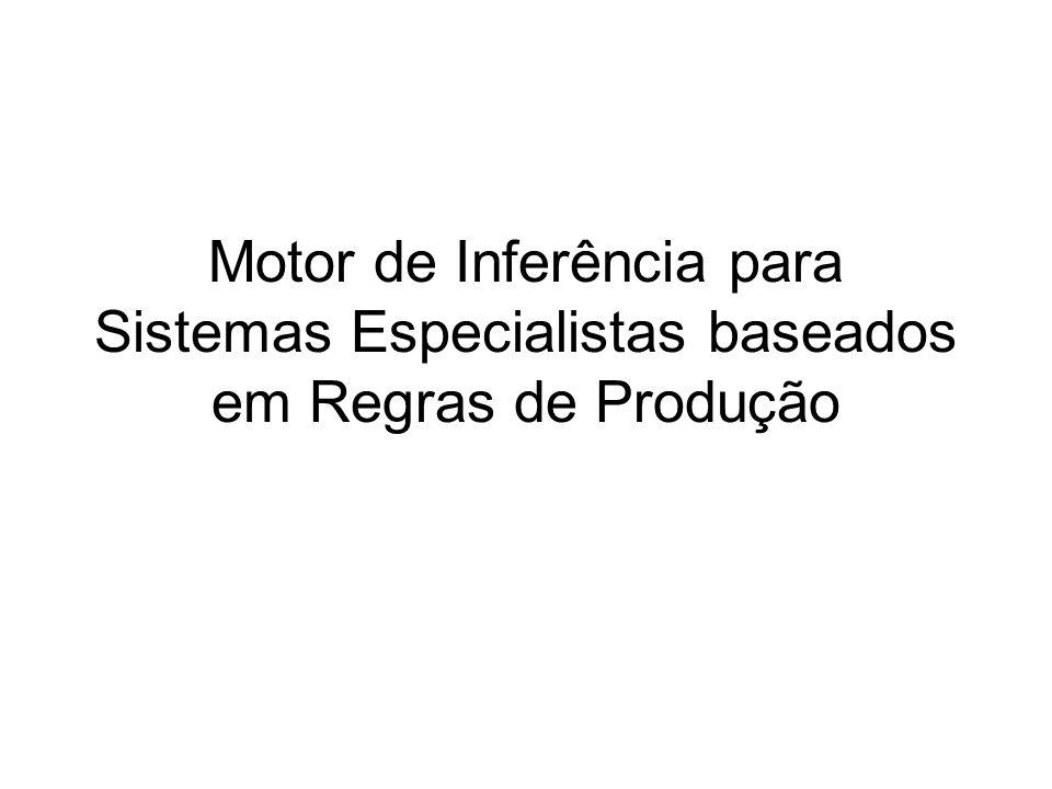 Motor de Inferência para Sistemas Especialistas baseados em Regras de Produção