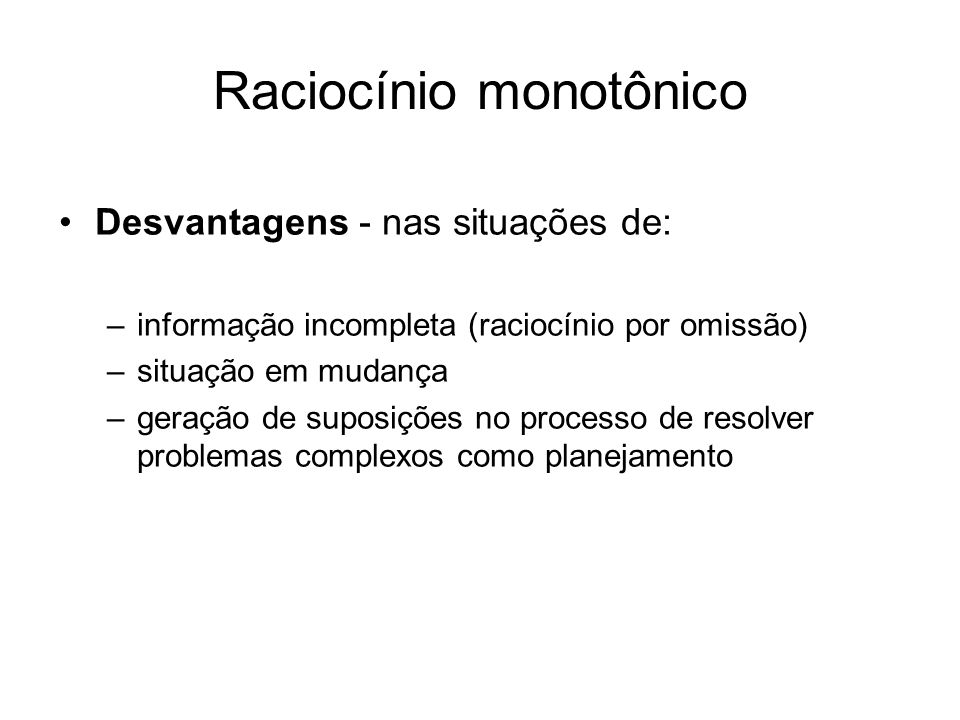 Raciocínio monotônico
