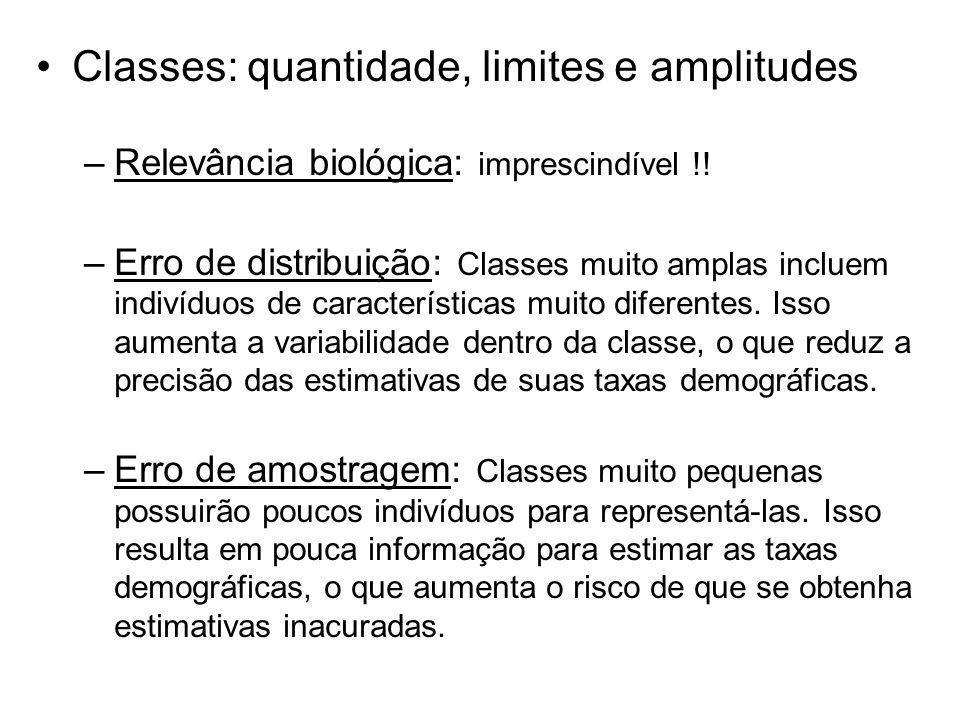 Classes: quantidade, limites e amplitudes