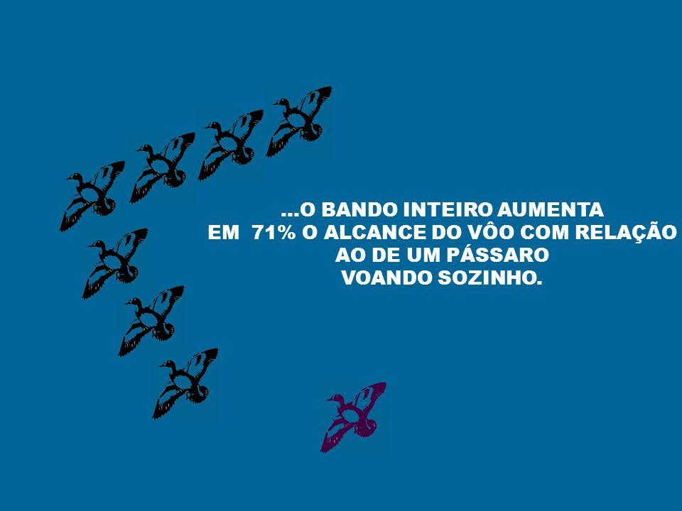 ...O BANDO INTEIRO AUMENTA EM 71% O ALCANCE DO VÔO COM RELAÇÃO