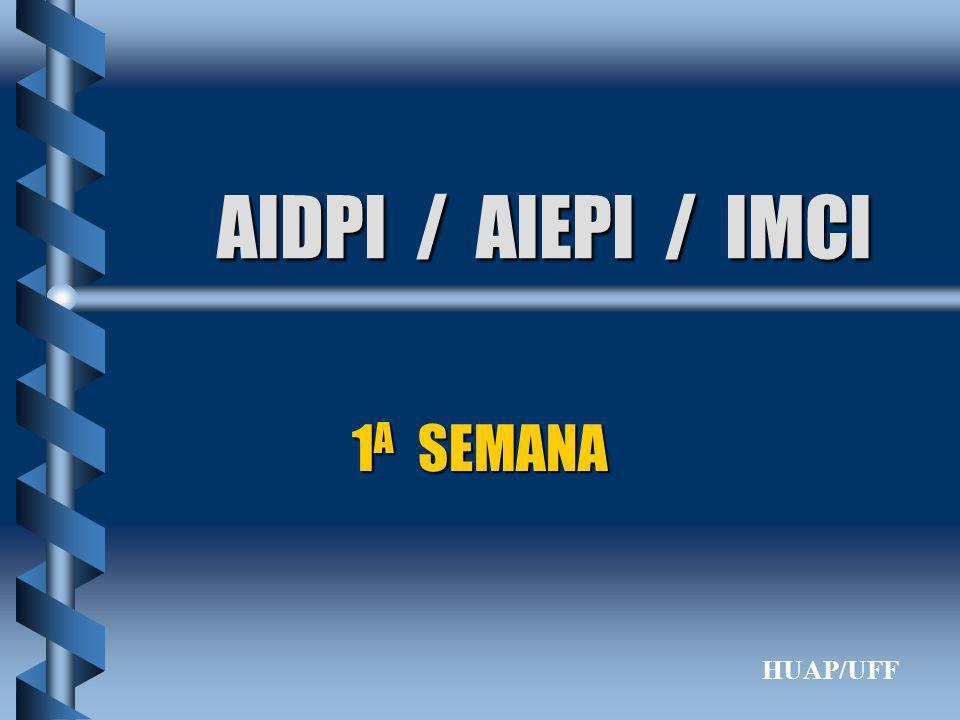 AIDPI / AIEPI / IMCI 1A SEMANA HUAP/UFF