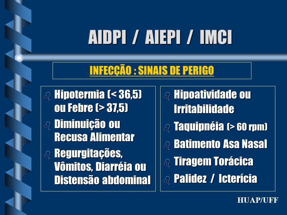 INFECÇÃO : SINAIS DE PERIGO