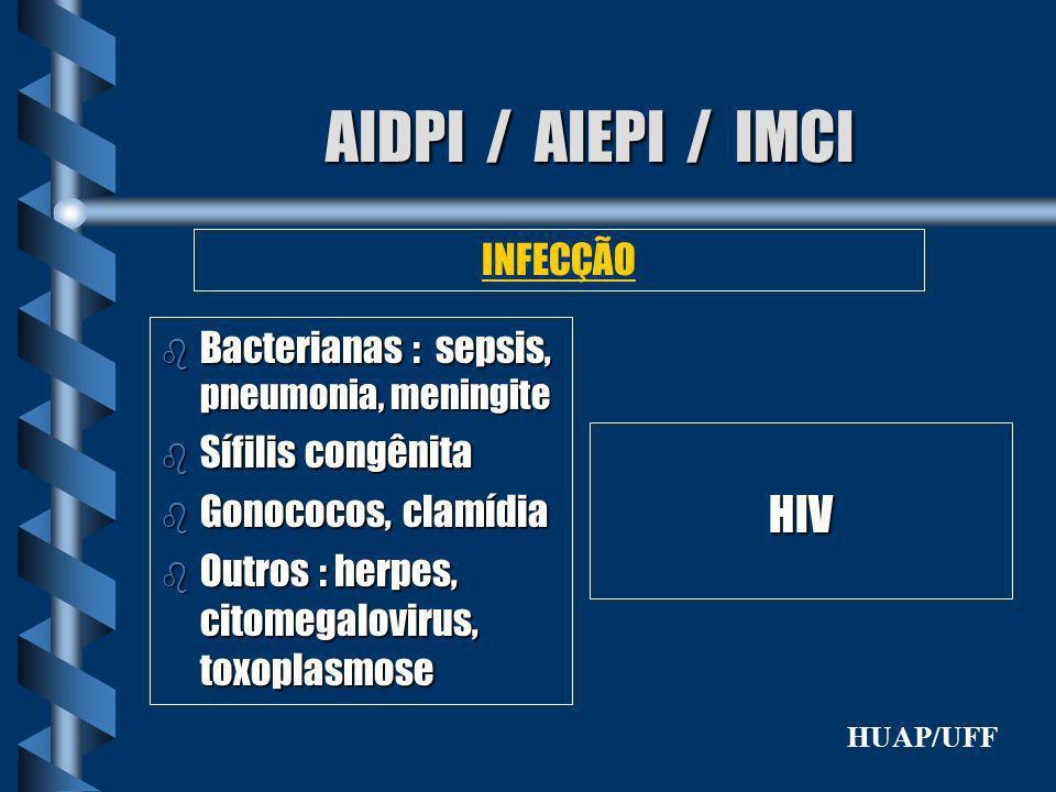 AIDPI / AIEPI / IMCI HIV INFECÇÃO