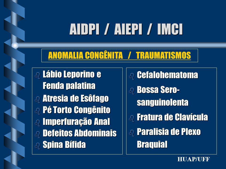 ANOMALIA CONGÊNITA / TRAUMATISMOS