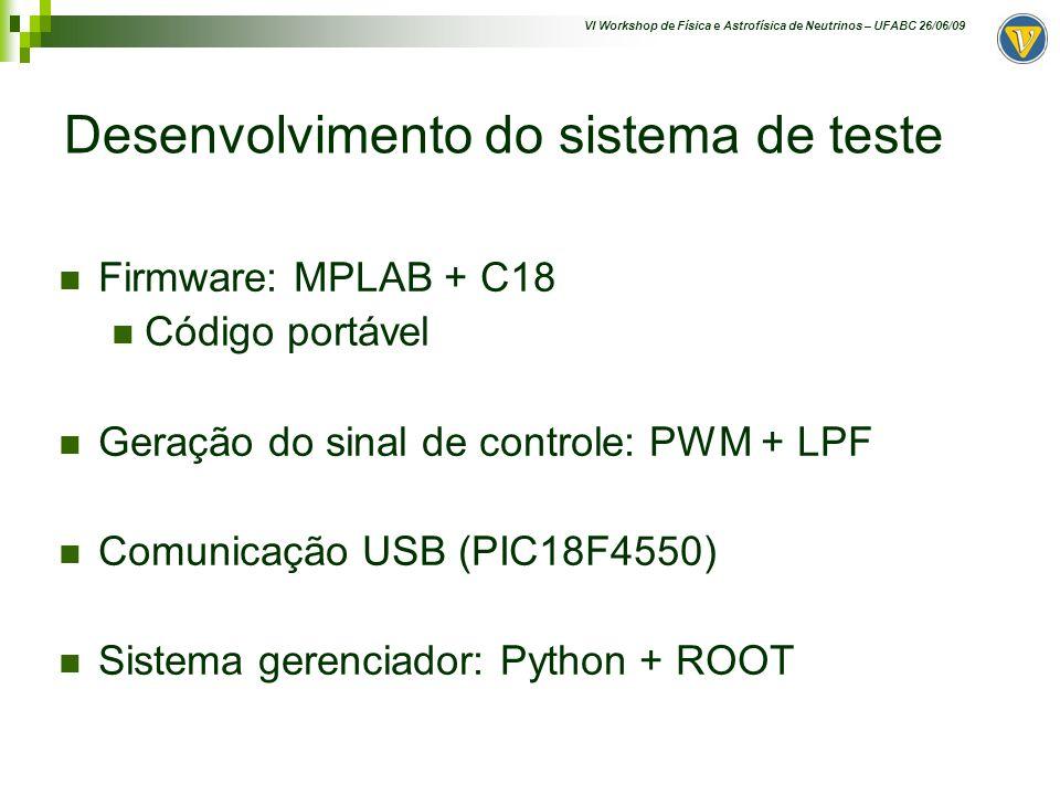 Desenvolvimento do sistema de teste
