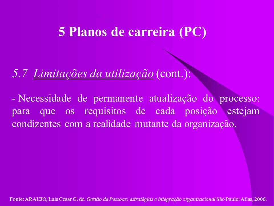 5 Planos de carreira (PC)