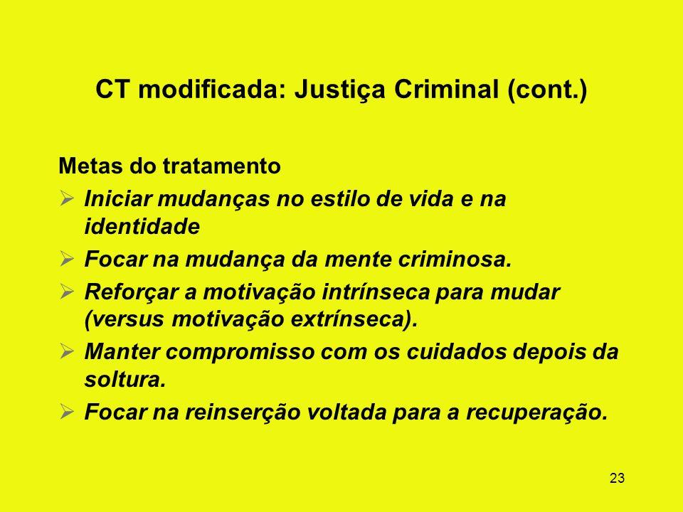 CT modificada: Justiça Criminal (cont.)