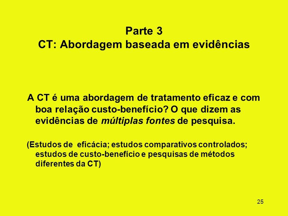 Parte 3 CT: Abordagem baseada em evidências