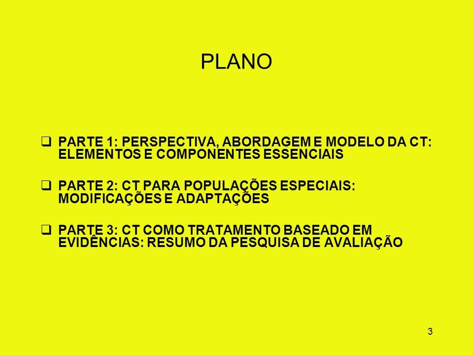PLANO PARTE 1: PERSPECTIVA, ABORDAGEM E MODELO DA CT: ELEMENTOS E COMPONENTES ESSENCIAIS.