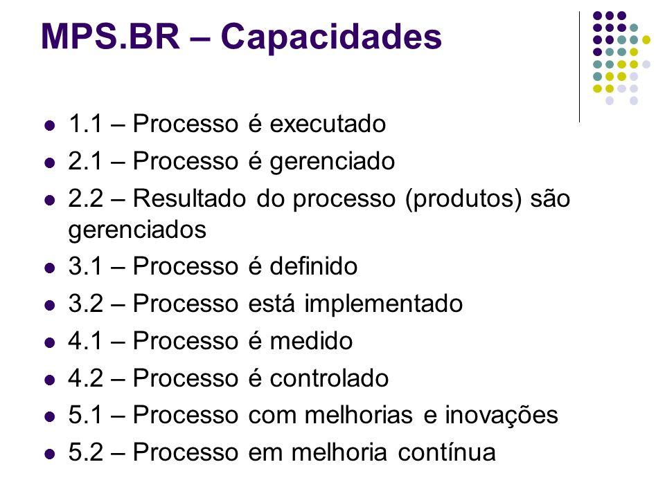 MPS.BR – Capacidades 1.1 – Processo é executado