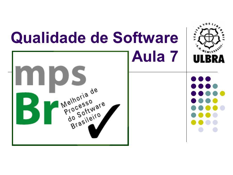 Qualidade de Software Aula 7