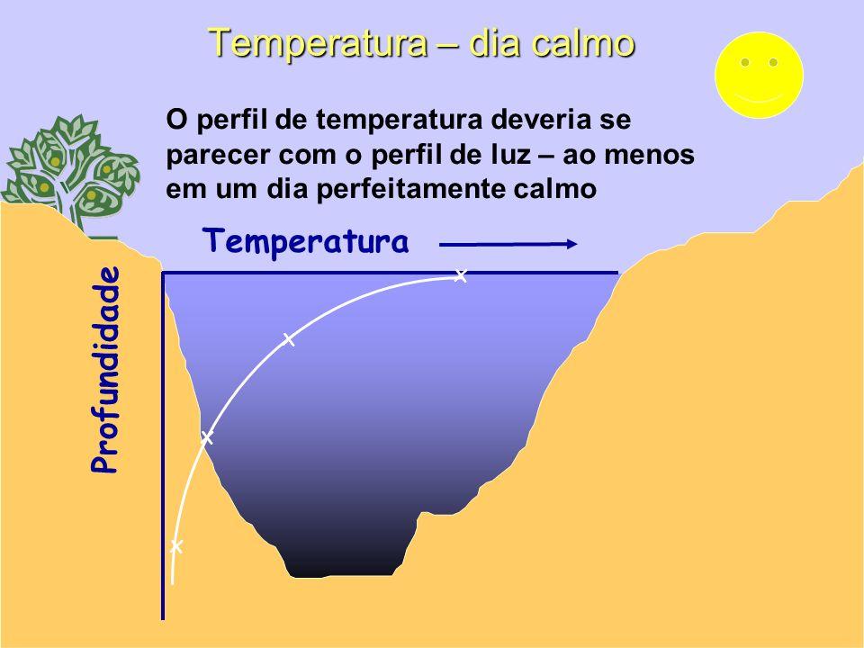 Temperatura – dia calmo