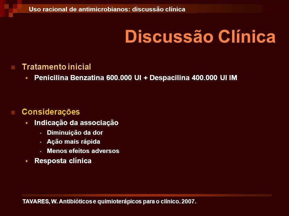 Discussão Clínica Tratamento inicial Considerações