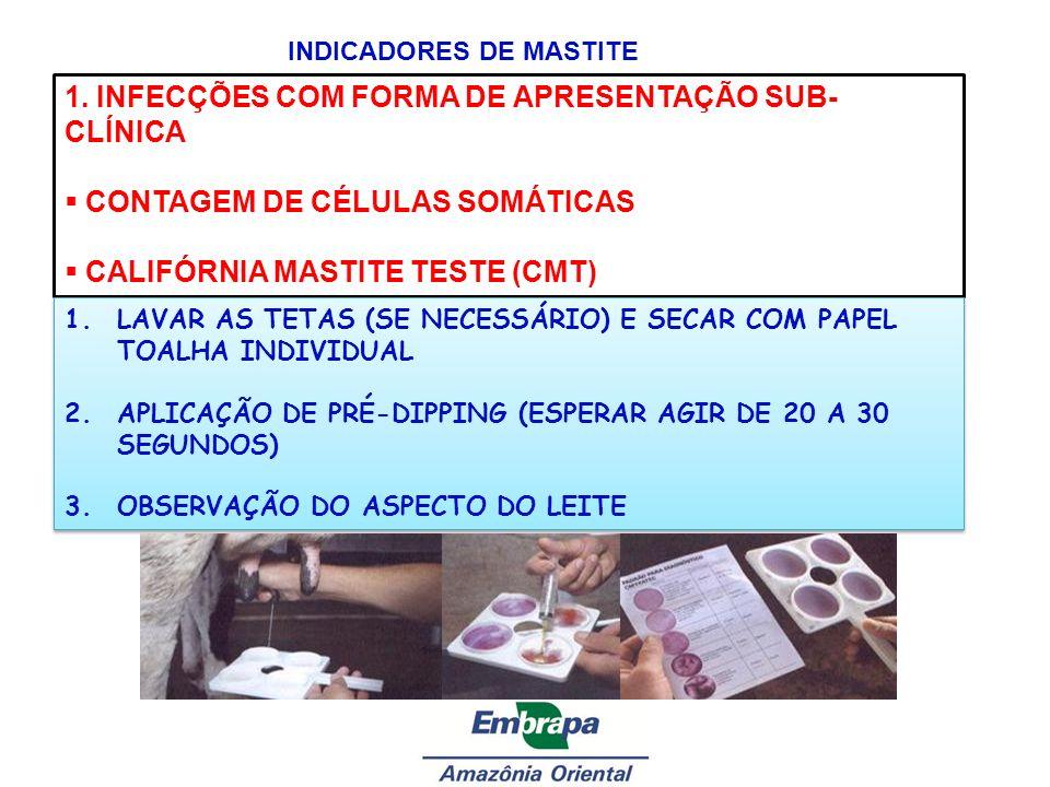 1. INFECÇÕES COM FORMA DE APRESENTAÇÃO SUB-CLÍNICA